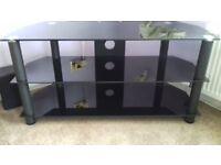 Smoked Glass, 3-shelf, TV Stand