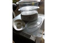 Tiered Steamer with Timer & Rice Bowl LIKE NEW