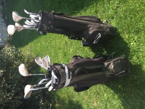 Bâton Fairway+sac+roue transport(femme/junior (gaucher/droitier)