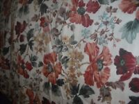 2 Pairs of curtains & fabric