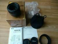 Nikon Nikkor lens af-s 50mm 1.8 G