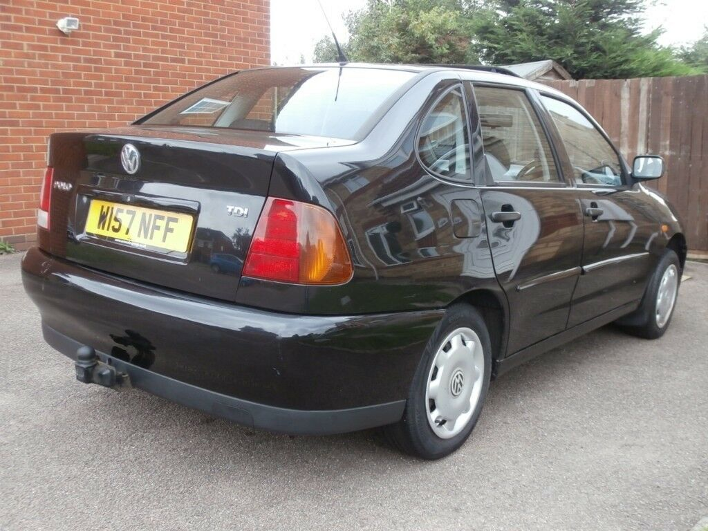 2000 vw polo saloon 1 9 tdi black full mot part service history not golf lupo sdi gti mk2f mk3. Black Bedroom Furniture Sets. Home Design Ideas