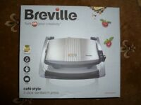 New Breville VST025 Sandwich Press, Stainless Steel (BNIB)