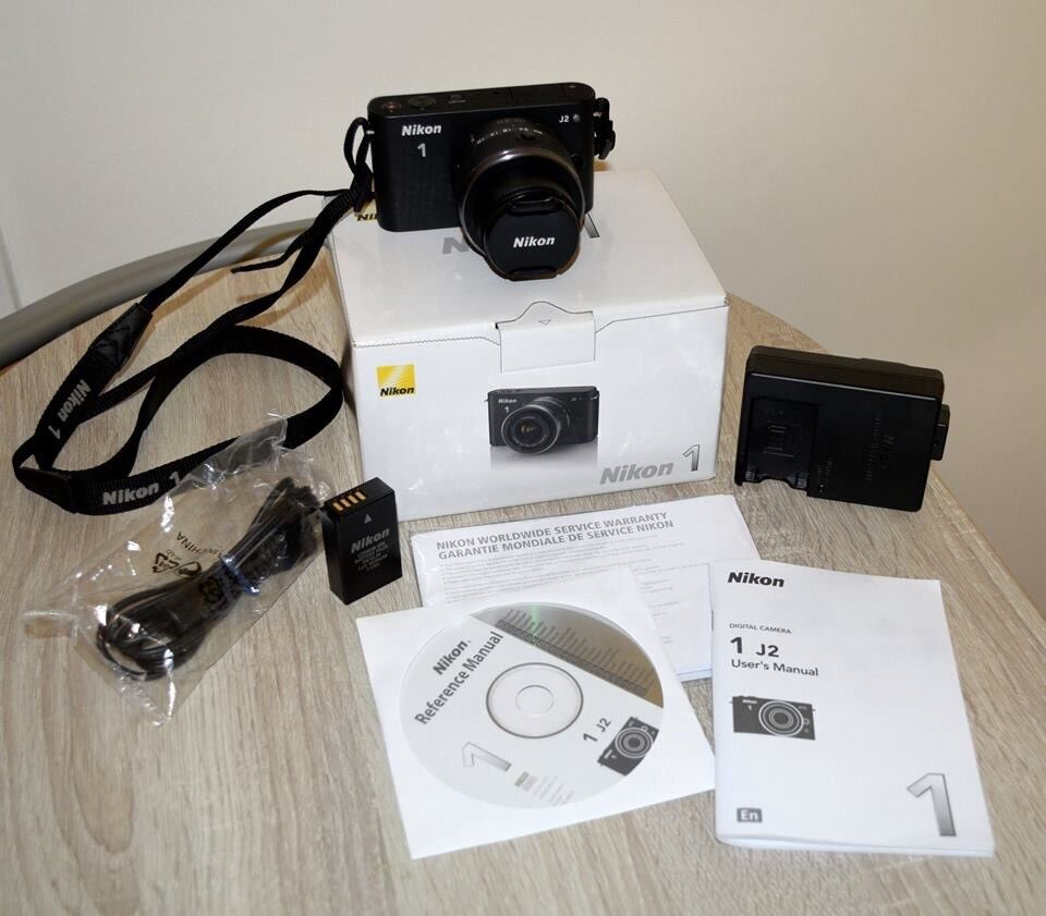 Nikon 1 J2 Compact System Camera with 10-30mm Lens.