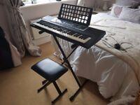 Yamaha YPT210 Portable Digital Keyboard and stand