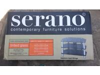 TV STAND - Serrano Tinted Glass TV/Home Entertainment Stand (New in Box)
