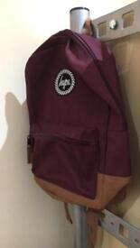 Mini hype backpack. Burgundy.
