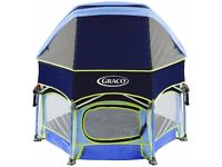 graco play pen with canopy