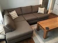 Free corner sofa ready to be collected-moving house and no longer can accommodate it