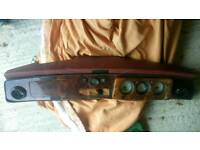 Original rover mini walnut dashboard with red leather top