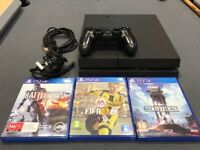 Sony PlayStation 4 1TB (CUH-1216B) PS4 Game Console + a controller and 3 games