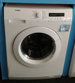 O106 white aeg 8kg 1400spin washing machine comes with warranty can be delivered or collected