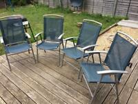 4 garden or picnic folding chairs
