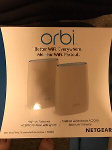 Netgear Orbi AC3000 1733 Mbps 3-Port 802.11 AC Wifi System