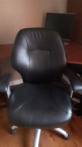 Chaise de bureau cuir synthétique