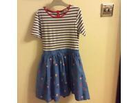 Next girls ladybird dress, cardigan and leggings age 9-10 years