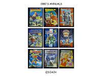 1980'S ANNUALS £5 EACH