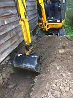 Mini-excavator for rent
