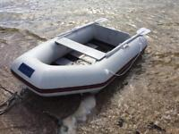 2.3m seago inflatable rubber dinghy, boat.