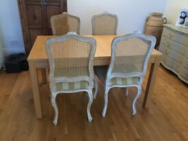 Dining table Ikea plus 2 chairs French style