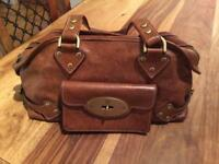 Genuine leather mulberry bag