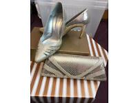 Champagne shoes (size 7) and bag from Catherine of Partick