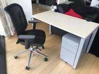 Excellent home office/student setup! Desk/Chair/Draws