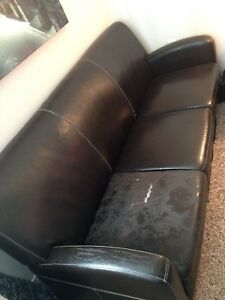 Leather Couch Pick up ONLY FREE