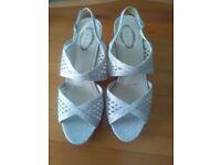 Silver shoes size 7 excellent condition - never worn.