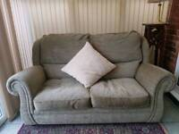 Sofabed double in green fabric good condition DFS £50
