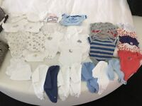 Huge bundle of baby vests 0-3 months