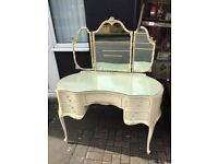 Berry Ornate French cream dressing table
