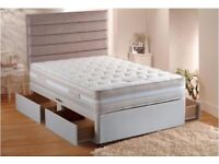 ''Classic Offer'' Single Divan Bed with Deep Quilt Mattresses -- Same Day Free Deliver