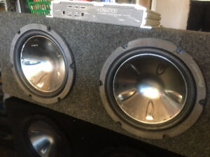 CAR/TRUCK AUDIO SYSTEM AMPLIFIER AND SUBWOOFERS FOR SALE