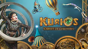 Kurios Cirque Du Soleil Saturday July 22nd Tickets 8:00PM Show