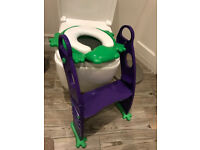 Frog Toddler Potty Training Seat with Ladder Steps (was £18)