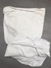 2 John Lewis cot bed fitted sheets