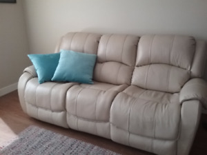 Quality Real leather sofa - Cream coloured