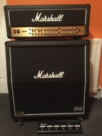 Marshall JVM 410H with 4x12 Cabinet and Foot Pedal (Mint Condition)