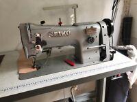 Seiko STW-8B large bobbin walking foot industrial sewing machine, low energy silent servomotor