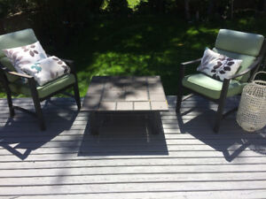 Six patio chairs for sale- pillows included