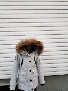 Manteau pour femme Noize Gris Blanc Small