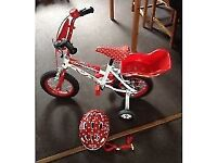 12 inch Disney Minnie Mouse Bike and Minnie Mouse Helmet