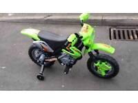 Battery operated motorbike