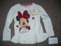 Bundle of 3 long sleeve tops/ t-shirts for girl 6-7 years old. 2x Minnie Mouse. Hardly used.