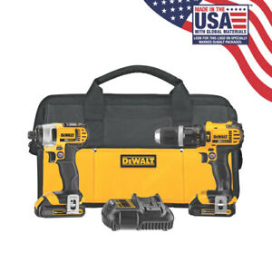 NEW! DeWALT 20V MAX Hammer Drill and Impact Driver Combo Kit