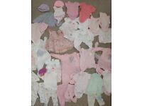 Premature and newborn baby girl bundle