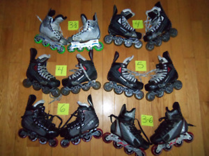 Beaucoup de rollers, Hockey patins