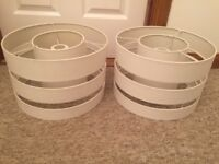 2 ivory Lamp/light shades. Excellent condition. Bargain at £15