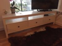 Ikea TV Stand with 3 drawers - White, Shabby Chic